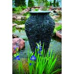 Large Stacked Slate Urn Fountain for Landscape and Gardens, 56-1/2 Inches Tall