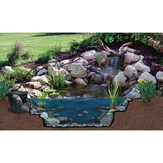 Pond Filter and Waterfall Spillway, 16-Inch-3