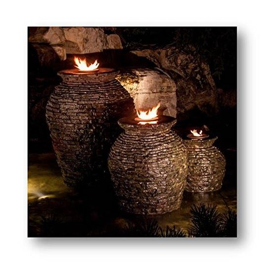 Fire Fountain Stacked Slate Urn Add-On Kit 3