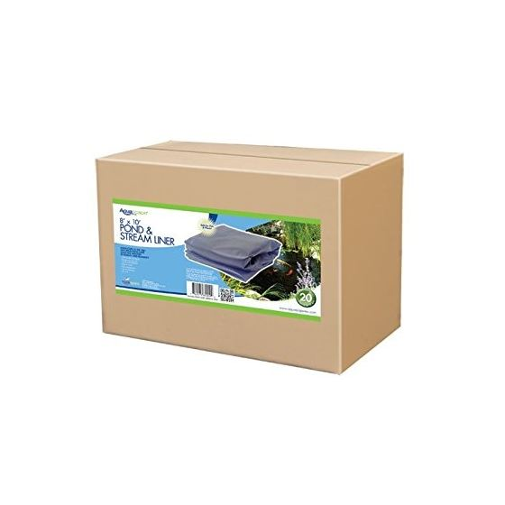 EPDM Boxed 45 Mil Liner for Pond, Waterfall, and Water Features, 8 x 10 Feet