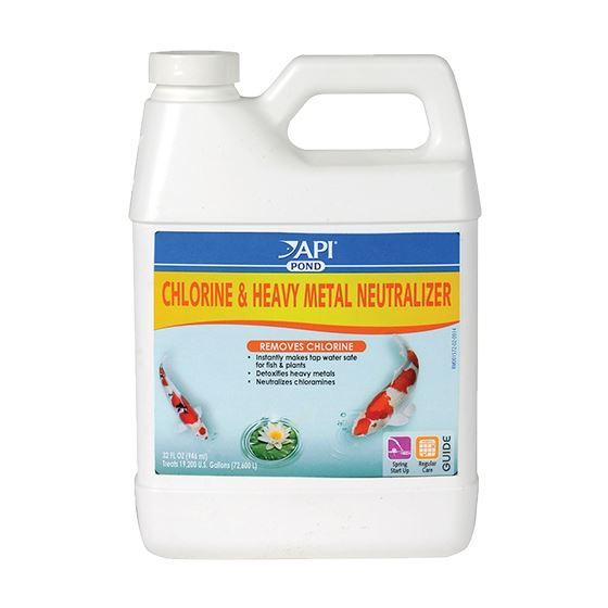 API Pond Chlorine  Heavy Metal Neutralizer 32 oz.