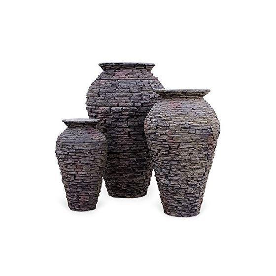 Medium Stacked Slate Urn Fountain 3