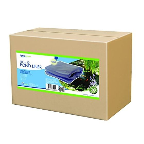 Aquascape EPDM Boxed 45 Mil Liner for Pond, Waterfall, and Water Features, 12 x 15 Feet