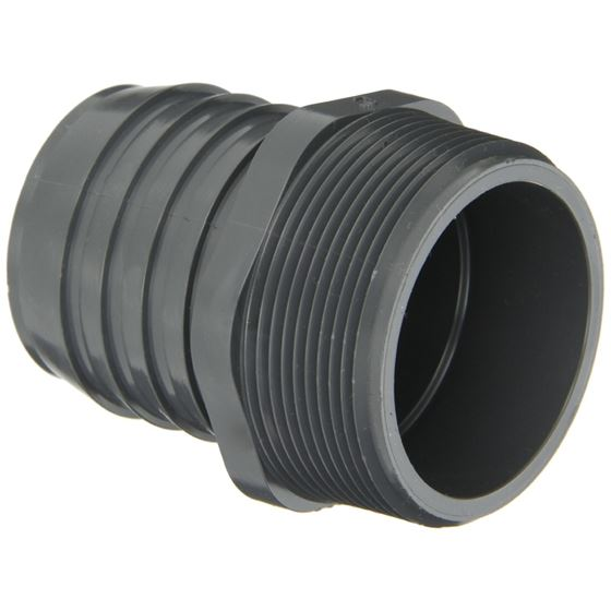 1436 Series PVC Tube Fitting,Female Adapter, Schedule 40, Gray