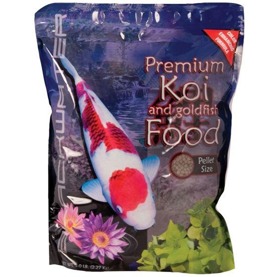Aquatic Nutrition Premium Koi and Goldfish Color Enhancing Fish Food Medium 5 lb.