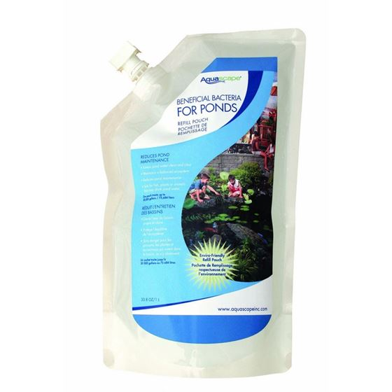 Liquid Beneficial Bacteria for Pond and Water Features, 1-Liter Refill Pouch
