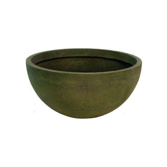 Round Pot Planter Finish: Green Slate, Size: 16 An