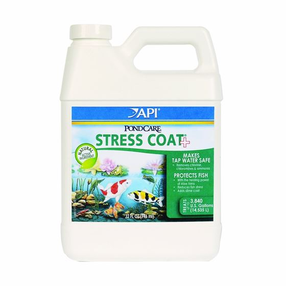 API Pondcare Stress Coat Pond Water Conditioner, 32-Ounce