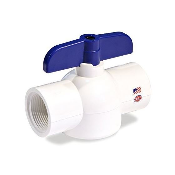 EBV-1250-T 1-1/4-Inch Threaded PVC Schedule 40 Economy Ball Valve
