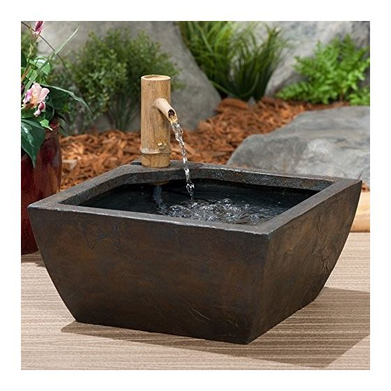 78197 Aquatic Patio Pond Water Garden With Bamboo