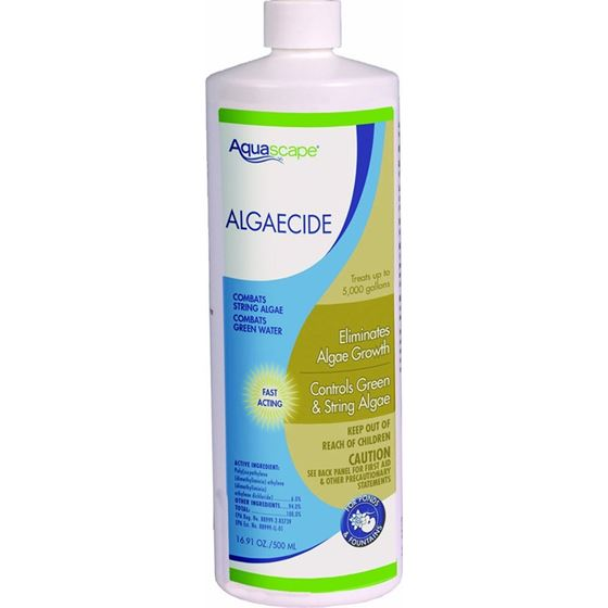 Algaecide for Pond, Waterfall, and Water Features, 16-Ounce