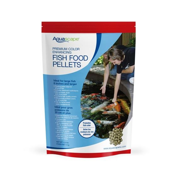 Premium Color Enhancing Fish Food Pellets 2 kg / 4.4 lbs