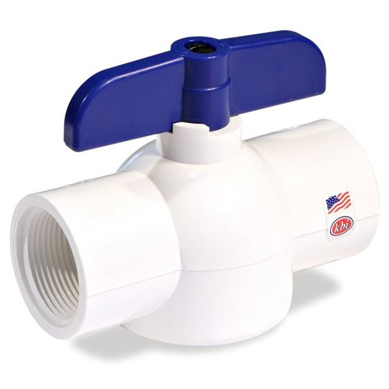 EBV-1500-T 1/2-Inch Threaded PVC Schedule 40 Economy Ball Valve